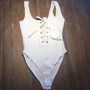 Lace-up bodysuit